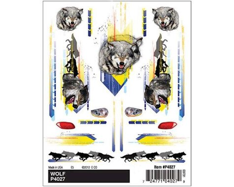 PineCar Dry Transer Decals, Wolf