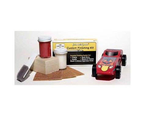 PineCar Finishing Kit,Competition Red