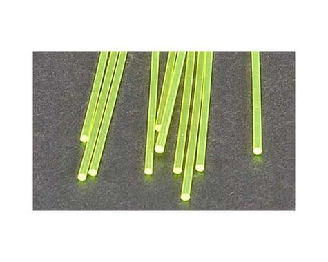 """Plastruct FARG-3H Fluor Grn Rod,3/32"""" (8)"""