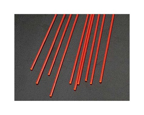 "Plastruct FARR-2H Fluor Red Rod,1/16"" (10)"