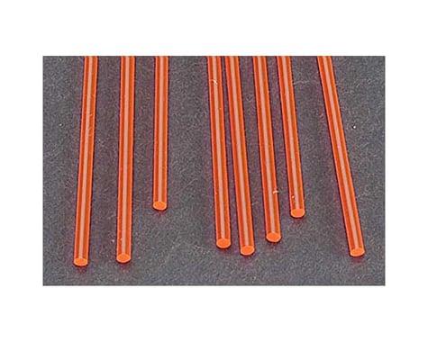 "Plastruct FARR-3H Fluor Red Rod,3/32"" (8)"