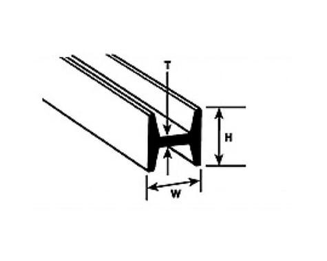 "Plastruct HFS-10 H Column,5/16"" (5)"