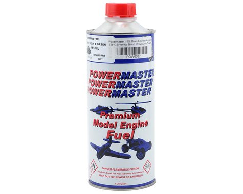 PowerMaster Mean & Green 15% Airplane Fuel (18% Synthetic Blend) (One Quart)
