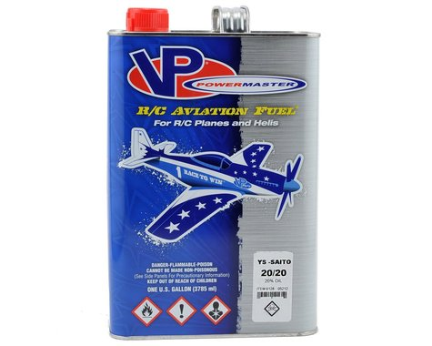 PowerMaster YS-Saito 20/20 Airplane Fuel (20% Synthetic Blend) (Six Gallons)
