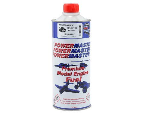 PowerMaster PowerBlend 10% Airplane Fuel (18% Castor/Synthetic Blend) (1 Quart)