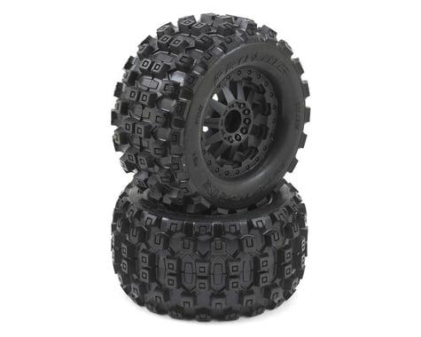 "Pro-Line Badlands MX28 2.8"" Tires w/F-11 Electric Rear Wheels (2) (Black) (M2)"