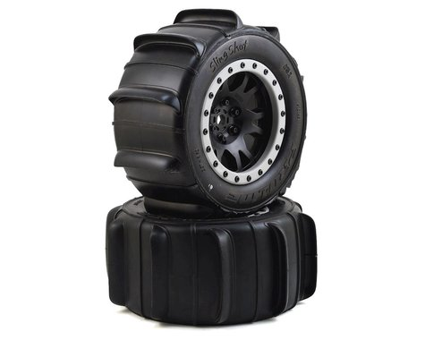 Pro-Line X-Maxx Sling Shot Pre-Mounted Sand Tires w/Impulse Pro-Loc Wheels (MX43)