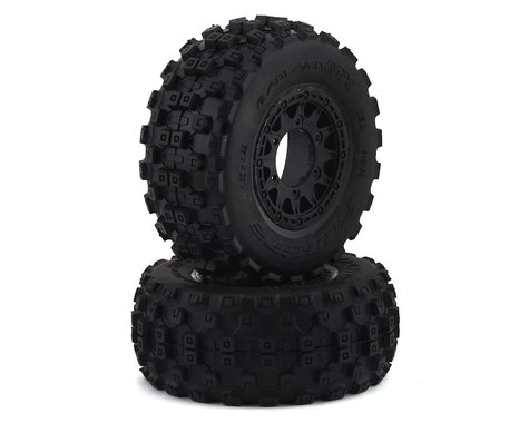 Pro-Line Badlands MX SC Tires w/Raid Wheels (Black) (2) (Slash Front) (M2)
