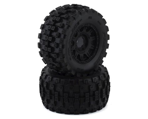 "Pro-Line Badlands MX38 HP Belted 3.8"" Pre-Mounted Truck Tires (2) (Black) (M2)"