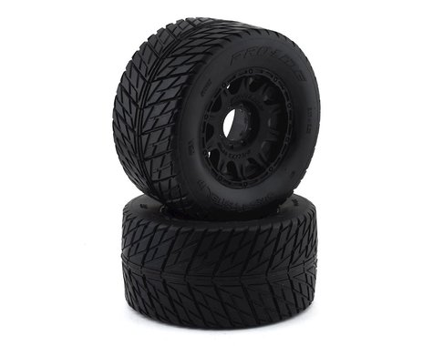 """Pro-Line Street Fighter HP 3.8"""" Belted Tires Pre-Mounted w/Raid Wheels (2) (M2)"""