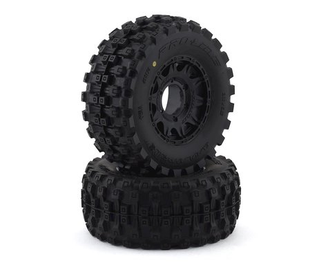 "Pro-Line Badlands MX28 Belted 2.8"" Pre-Mounted Truck Tires (2) (Black) (M2)"
