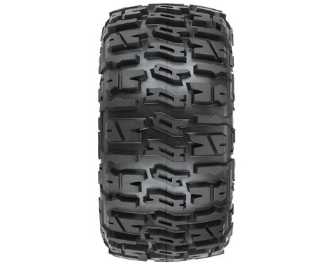 """Pro-Line Trencher LP 3.8"""" Pre-Mounted Truck Tires (2) (Black) (M2)"""