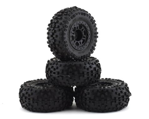 Pro-Line Badlands SC Slash 4 Pack w/Split Six Wheels (4) (Black) (M2)