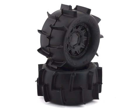 "Pro-Line Sand Paw 2.8"" Pre-Mounted Tires w/Raid Rear Wheels (2) (Black) (Z3)"