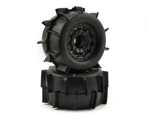"Pro-Line Sand Paw 2.8"" Tires w/F-11 Nitro Rear Wheels (2) (Black)"