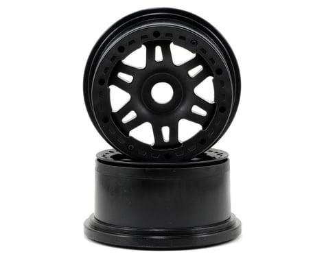 Pro-Line Split Six Bead-Loc Rear Wheels (Baja 5T) (2) (Black/Black)