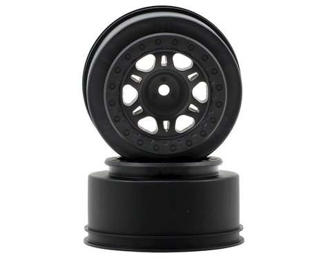 Pro-Line Split Six One-Piece Short Course Front Wheels (Black) (2)