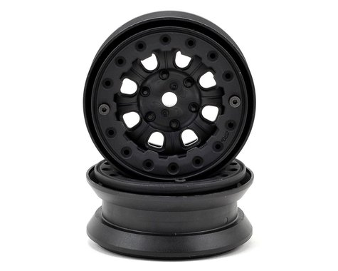 "Pro-Line Denali 1.9"" Bead Loc Rock Crawler Wheels (2) (Black/Black)"