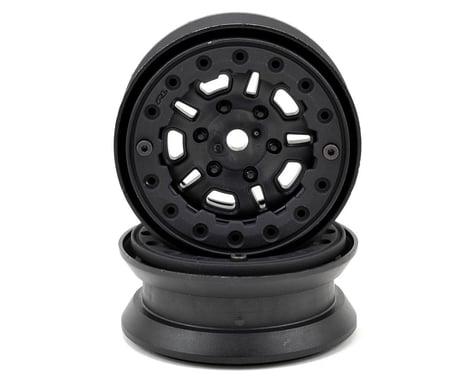 "Pro-Line FaultLine 1.9"" Bead Loc Rock Crawler Wheels (2) (Black/Black)"