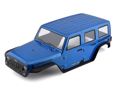 Pro-Line Jeep Wrangler Unlimited Rubicon Pre-Painted & Pre-Cut Body (Blue)