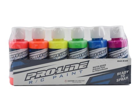 Pro-Line RC Body Airbrush Paint Fluorescent Color Set (6)
