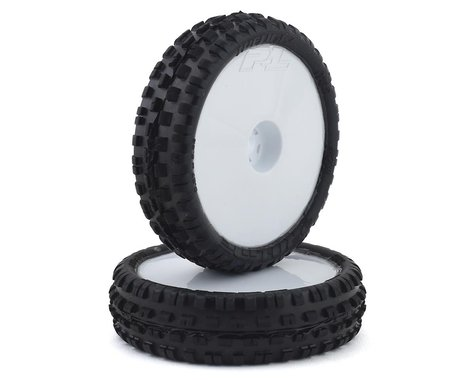 """Pro-Line Wedge Squared 2.2"""" 2WD Front Buggy Mounted Carpet Tires (White) (2) (Z4)"""