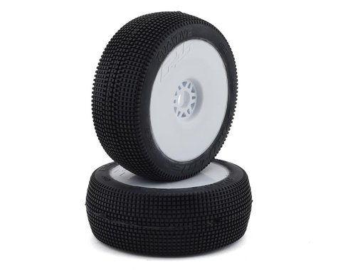 Pro-Line Fugitive Pre-Mounted 1/8 Buggy Tires (2) (White) (S3)