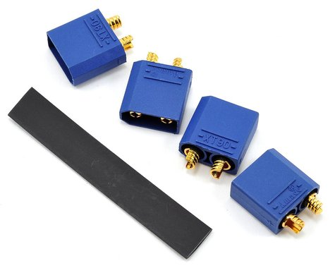 "ProTek RC 4.5mm ""TruCurrent"" XT90 Polarized Device Connectors (4 Male)"