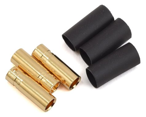 ProTek RC 4mm Short Female Bullet Connector w/Shrink Tube (3)