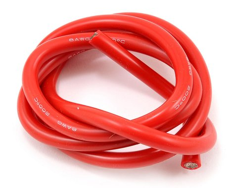 ProTek RC 8awg Red Silicone Hookup Wire (1 Meter)