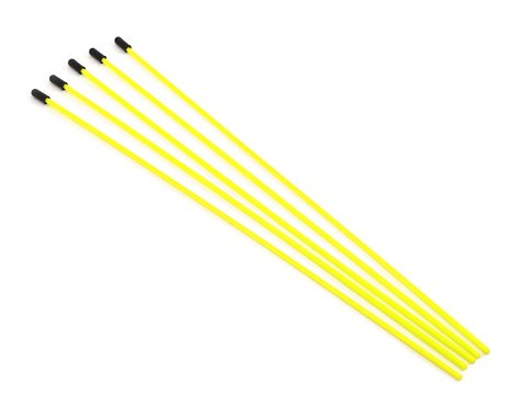 ProTek RC Antenna Tube w/Caps (Flo Yellow) (5)