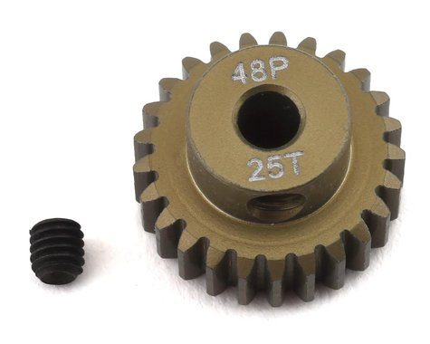 ProTek RC 48P Lightweight Hard Anodized Aluminum Pinion Gear (3.17mm Bore) (25T)