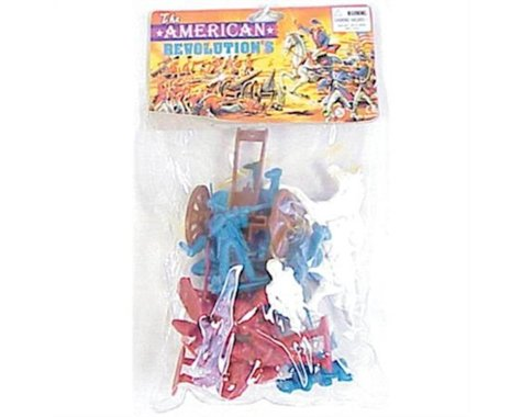 BMC Toys Americana 98562 American Revolutionary War Playset Figures 15 Piece Set with Cannon,