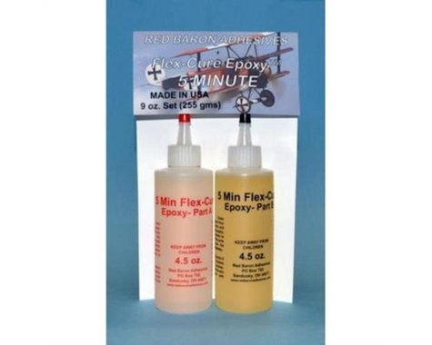 Red Baron Adhesives  5 Minute Flex-Cure Epoxy 4.5O