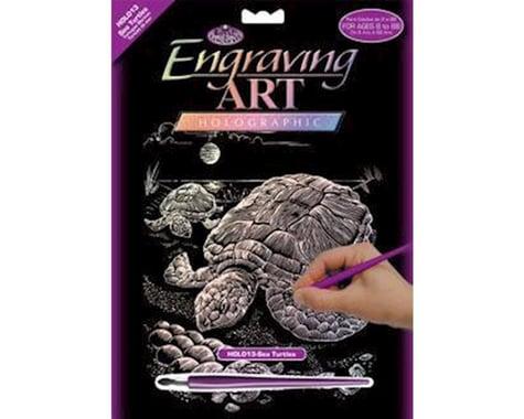 Royal Brush Manufacturing Holographic Foil Engrv Sea Turtle