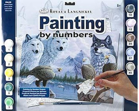 Royal Brush Manufacturing Adult Large Paint By Numbers (Wolves & Eagles)