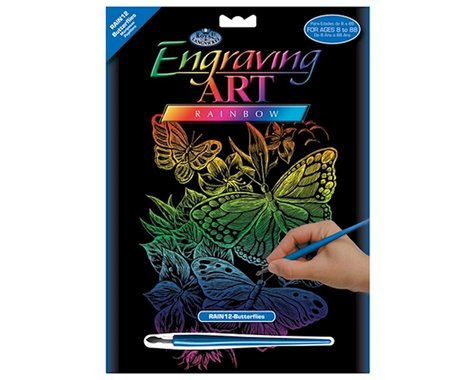 Royal Brush Manufacturing Rainbow Foil Engraving Butterflies