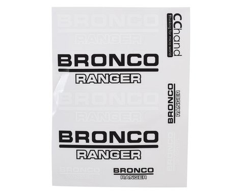 RC4WD CChand TRX-4 Bronco Body Decals (Style A)