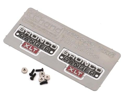 RC4WD CChand TRX-4 Bronco Side Metal Emblem