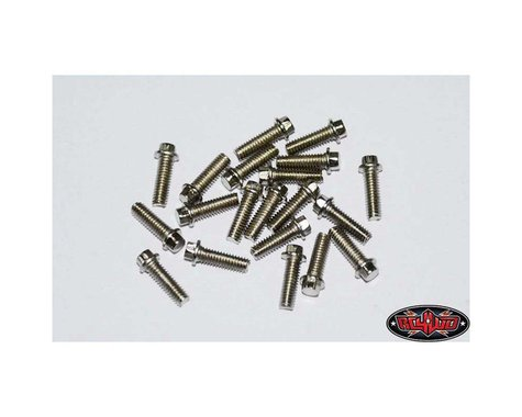 RC4WD 2.5x8mm Miniature Scale Hex Bolts (Silver) (20)