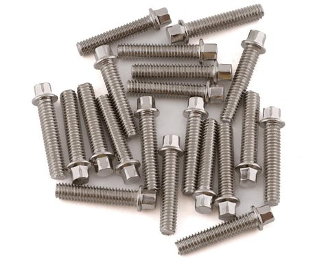 RC4WD Miniature Scale Hex Bolts M2.5x12mm Silver