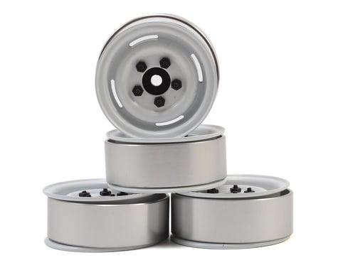 """RC4WD 1.55"""" Landies Vintage Stamped Steel Beadlock Wheels (White)"""