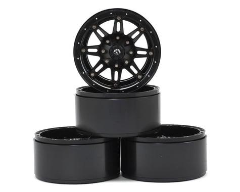 RC4WD Fuel Offroad Hostage 2.2 Aluminum Beadlock Rock Crawler Wheel (4) (Black)