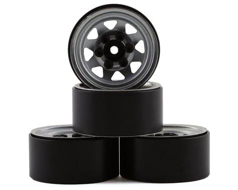 "RC4WD Stamped Steel 1.0"" Stock Beadlock Wheels (Silver) (4)"