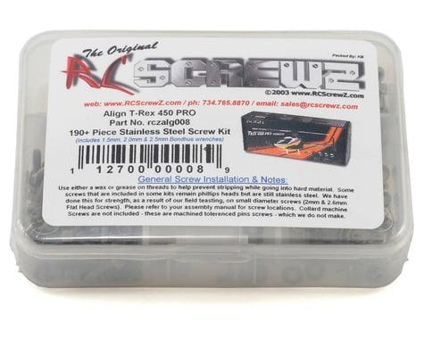 RC Screwz Align T-Rex 450 Pro Stainless Steel Screw Kit