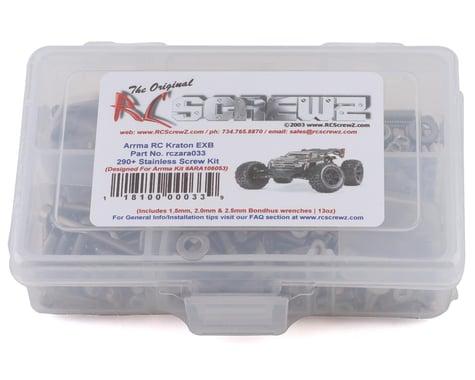 RC Screwz Arrma Kraton EXB Stainless Steel Screw Kit