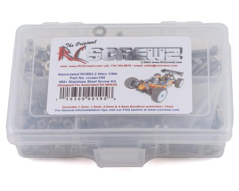 RC Screwz Associated RC8B3.2 Stainless Steel Screw Kit