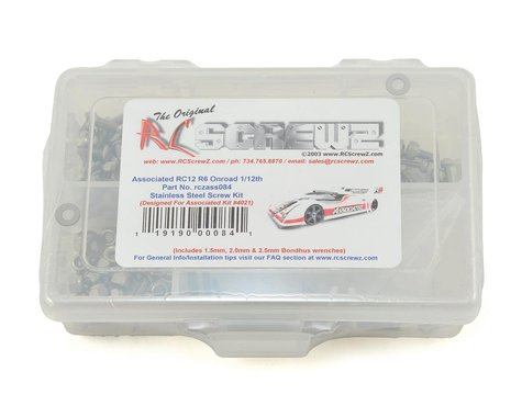 RC Screwz Associated RC12R6 Stainless Steel Screw Kit