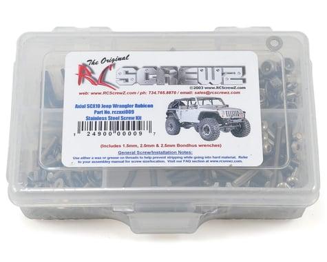 RC Screwz Axial SCX10 Jeep Wrangler Rubicon Stainless Steel Screw Kit