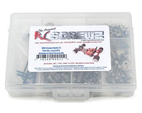 RC Screwz CRC Xti Stainless Steel Screw Kit